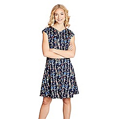 Yumi - Navy floral 'jessamy' skater dress