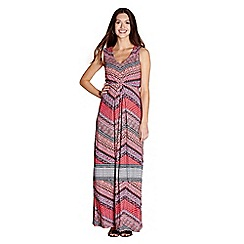 Yumi - Multicoloured aztec 'Rhian' wrap dress