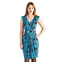 Yumi - Blue floral jersey 'Valyre' bodycon dress