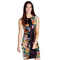 62e4dbe84c905b Yumi - Black floral print  Melody  ruched bodycon dress