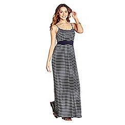 Yumi - Navy striped 'Vail' maxi dress