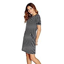 Yumi - Navy striped 'iolanthe' tunic dress