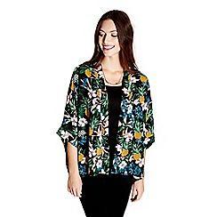 Yumi - Black pineapple printed kimono