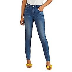Yumi - Blue high rise skinny jeans