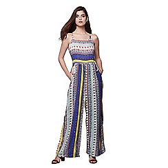 Yumi - Multicoloured Patchwork Strap Jumpsuit