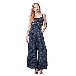 Yumi - Blue Pineapple Print Jumpsuit