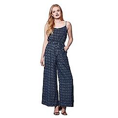 Yumi - Blue Pineapple Print Jumpsuit