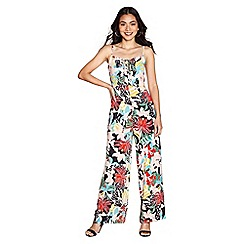Yumi - Multicoloured jungle floral jumpsuit