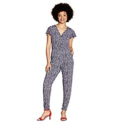 Yumi - Navy fish print jumpsuit