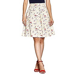 Yumi - Ivory beach sketch skirt