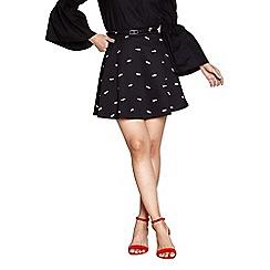 Yumi - Black mini fish pattern skirt