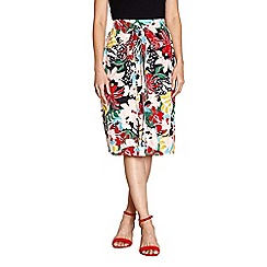 Yumi - Multicoloured vibrant floral print skirt