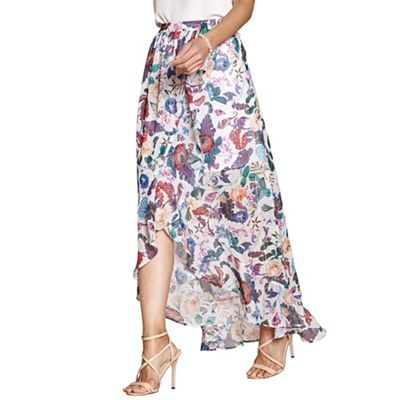 Yumi   Multicoloured Sealife And Flower Print Skirt by Yumi