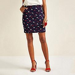 Yumi - Navy Mini Horse Skirt