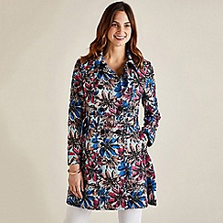 Yumi - Multicoloured  Floral Print Trench Coat