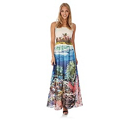 Yumi - Multicoloured  Underwater Print Maxi Dress