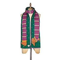 Yumi - Green sausage dog christmas scarf