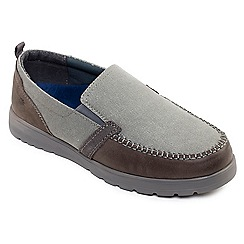 Padders - Grey 'Repeat' wide fit slip on shoes