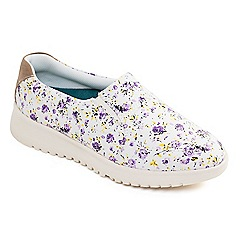 Padders - Lilac 'Re Grow' mid heel wide fit slip on shoes