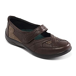 Padders - Light brown leather 'Cello' wide fit shoes