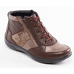 Padders - Light brown leather 'Piccolo' wide fit ankle boots