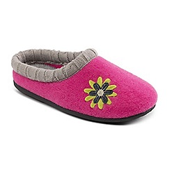 Padders - Pink 'Freesia' wide fit slippers