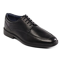 Padders - Black Leather 'Baker' Wide Fit Shoes