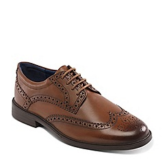 Padders - Tan leather 'Berkeley' wide fit shoes
