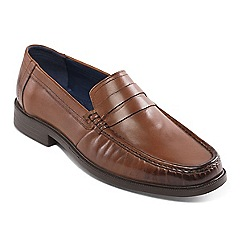Padders - Tan leather 'Baron' wide fit slip on shoes