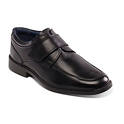 Padders - Black Leather 'Brent' Wide Fit Shoes