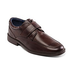 Padders - Brown Leather 'Brent' Wide Fit Shoes