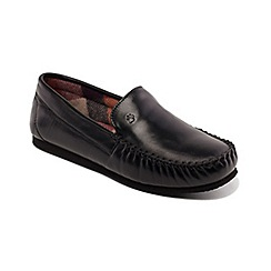 Padders - Black 'Marino' wide fit moccasins