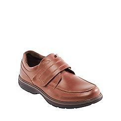 Padders - Tan leather 'Dorset' wide fit shoes