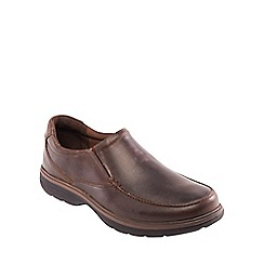 Padders - Brown leather 'Norfolk' wide fit shoes