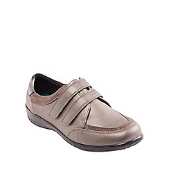 Padders - Metallic leather 'Caitlin' wide fit shoe