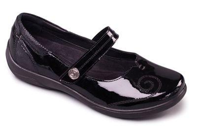 Padders - Black Patent 'Lyric' bar shoes