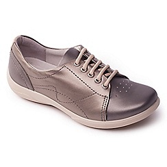 Padders - Metallic leather 'Jessica' wide fit lace up shoes