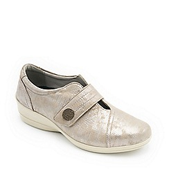 Padders - Leather 'Simone 4' mid heel wide fit shoes