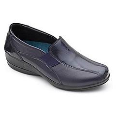 Padders - Bavy leather 'skye 2' mid heel wide fit shoes