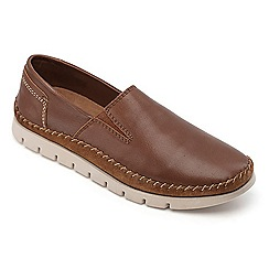 Padders - Tan leather 'Tour' wide fit shoes