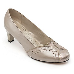 Padders - Leather 'Janet' wide fit court shoes