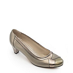 Padders - Leather Jewel' Mid Heel Wide Fit Court Shoess