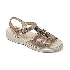 Padders - Leather 'Sunrise' wide fit sandals