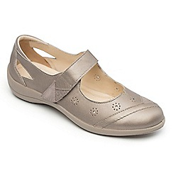Padders - Bronze leather 'Rainbow' wide fit shoes