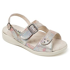 Padders - Leather 'Sunray' wide fit sandals