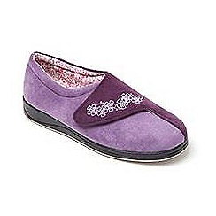 Padders - Purple 'hug' wide fit slippers