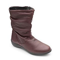 Padders - Leather 'Regan' mid heel wide fit calf boots