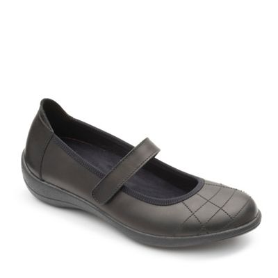 Padders - fit Black leather 'Robyn' wide fit - shoes 451ad2