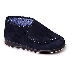 Padders - Navy padders 'cherish' women's memory foam slippers
