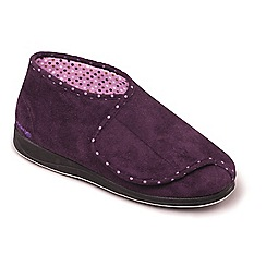 Padders - Purple padders 'cherish' women's memory foam slippers